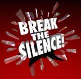 Bryt tystnadorden som slår till och med Glass röst- protestSpe Royaltyfria Bilder