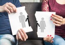 Bryt upp, skilsmässan, delad arrest av barn royaltyfria foton