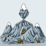 bryta berg Arkivbilder