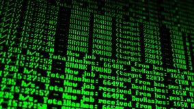 Bryta Cryptocurrency processprogram på skärmPC Använda programvara Funnen aktie Royaltyfri Bild