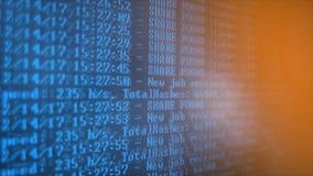 Bryta Cryptocurrency processprogram på skärmPC Använda programvara Funnen aktie Royaltyfri Foto