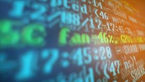 Bryta Cryptocurrency processprogram på skärmPC Använda programvara Funnen aktie Arkivfoton