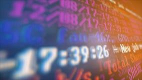 Bryta Cryptocurrency processprogram på skärmPC Använda programvara Funnen aktie Arkivfoto