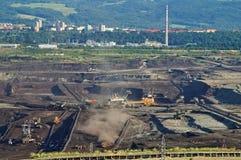 Bryta för yttersidamin av brunt kol Arkivfoto