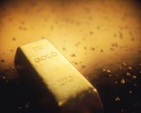 Bryta guld- klumpar Royaltyfri Foto