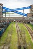 Bryta infrastruktur i den Silesia regionen, Polen Royaltyfri Foto