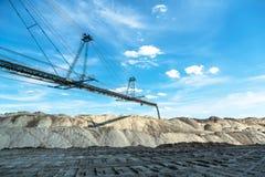 Bryta maskineri i minen Fotografering för Bildbyråer