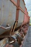 Bryta spårvagnar arkivbild