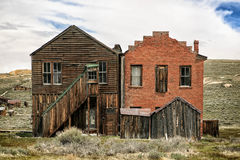 Bryta spökstaden av Bodie California Royaltyfri Fotografi