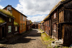Bryta staden Røros Royaltyfri Bild