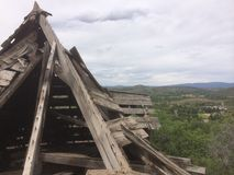 Bryta strukturen på berget Royaltyfri Fotografi