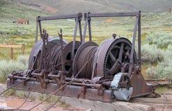 Bryta utrustning i Bodie, Kalifornien arkivfoto
