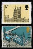 Brytania domy parlamentów znaczki pocztowi Obraz Royalty Free