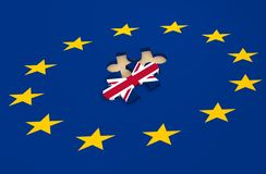 Brytania wyjście od Europejskiego zjednoczenia krewnego wizerunku Obraz Royalty Free