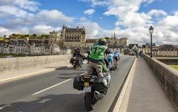 Brytningen och den Amboise chateauen Paris-Tours 2017 arkivbilder