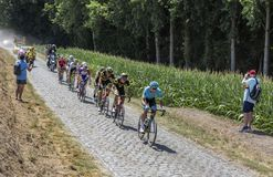 Brytningen - Tour de France 2018 Arkivfoto