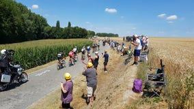 Brytningen - Tour de France 2018 arkivfilmer