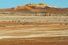 Brytningreserven nära Coober Pedy i södra Australien, Australien Royaltyfria Bilder