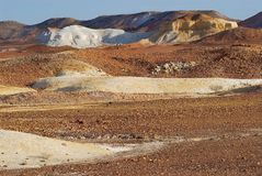 Brytningreserven nära Coober Pedy i södra Australien, Australien Arkivbild