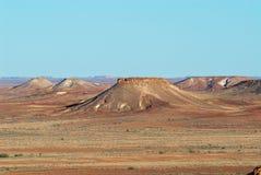 Brytningreserven nära Coober Pedy på solnedgången i södra Australien, Australien Royaltyfri Fotografi