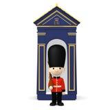 Brytyjscy żołnierze na bielu, 3D ilustracja royalty ilustracja