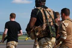 Brytyjscy żołnierze piechoty morskiej Obrazy Stock
