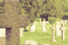 Brytyjscy cmentarzy krzyże Fotografia Royalty Free