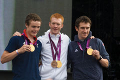 Brytyjscy Olimpijscy Kolarstwa Drużyny Pogoni Mistrzowie Obraz Royalty Free
