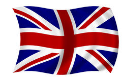brytyjska flagę Obraz Royalty Free