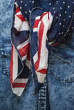 brytyjska flagę Obrazy Royalty Free