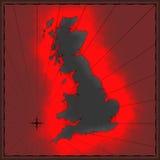 brytyjska kolorowa mapa Fotografia Royalty Free