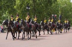 Brytyjska Królewska gospodarstwo domowe kawaleria Zdjęcia Stock
