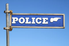 brytyjska policja podpisuje Obrazy Royalty Free