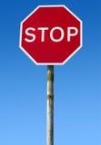 brytyjska stara czerwona drogowego znaka przerwa zdjęcia royalty free