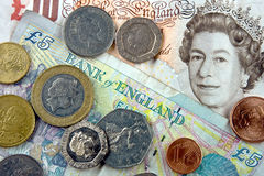 brytyjska waluta Obraz Royalty Free
