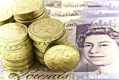 brytyjska waluta Zdjęcie Royalty Free