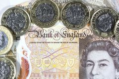 Brytyjska waluta - Nowy polimer Dziesięć funtów notatka Obrazy Royalty Free