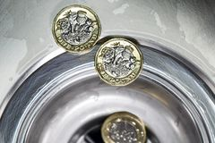 brytyjska waluty fotografia royalty free