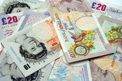 brytyjska waluty Obrazy Stock