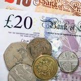 brytyjska waluty Zdjęcia Stock