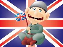 brytyjski śmieszny żołnierz royalty ilustracja