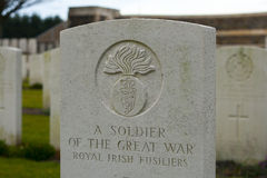 Brytyjski Cmentarniany Flanders odpowiada wielką wojnę światowa zdjęcia stock