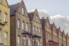 Brytyjski domy w Londyn Obrazy Royalty Free