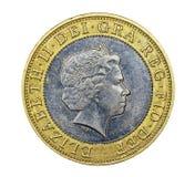 Brytyjski Dwa Funtowa moneta Zdjęcia Stock