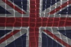 Brytyjski flaga na wąż skóry skóry teksturze Obraz Stock