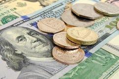 Brytyjski funt przeciw dolarowi amerykańskiemu Zdjęcie Stock