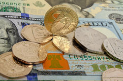 Brytyjski funt przeciw dolarowi amerykańskiemu Obrazy Royalty Free
