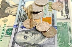 Brytyjski funt przeciw dolarowi amerykańskiemu Obrazy Stock