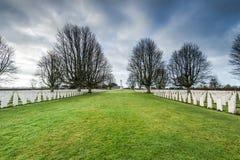 Brytyjski i wspólnoty narodów Wojenny cmentarz w Bayeux, Francja Zdjęcia Stock