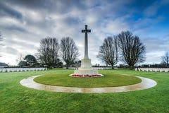 Brytyjski i wspólnoty narodów Wojenny cmentarz w Bayeux, Francja Obrazy Royalty Free